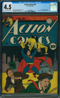 Golden Age (1938-1955):Superhero, Action Comics #45 (DC, 1942) CGC VG+ 4.5 CREAM TO OFF-WHITE pages.
