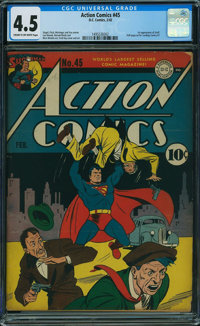 Action Comics #45 (DC, 1942) CGC VG+ 4.5 CREAM TO OFF-WHITE pages