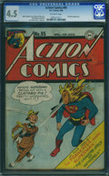 Golden Age (1938-1955):Superhero, Action Comics #95 (DC, 1946) CGC VG+ 4.5 Off-white pages.
