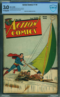 Action Comics #118 - CBCS CERTIFIED - MT. RAINIER COLLECTION (DC, 1948) CGC GD/VG 3.0 Off-white to white pages