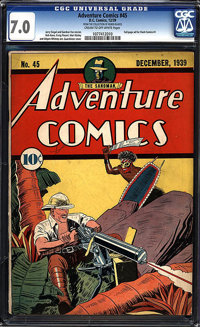 Adventure Comics #45 - Ruben Blades Collection (DC, 1939) CGC FN/VF 7.0 Cream to off-white pages