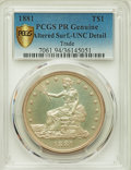 Proof Trade Dollars, 1881 T$1 -- Altered Surfaces -- PCGS Genuine Secure. Proof, Unc. Details....