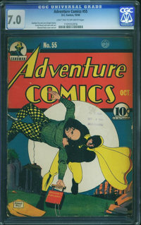 Adventure Comics #55 (DC, 1940) CGC FN/VF 7.0 Light tan to off-white pages