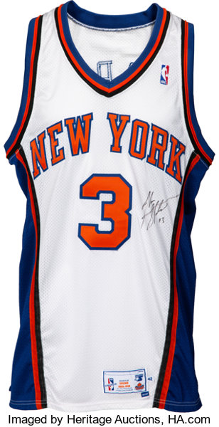 09866399 ... Basketball Collectibles:Uniforms, 1997-98 John Starks Game Worn &  Signed New ...