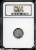 Barber Dimes: , 1905-O 10C MS65 NGC. A scarcer O-mint Barber Dime that is usuallyseen softly struck and is quite difficult above the lower...