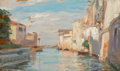 Fine Art - Painting, European:Antique  (Pre 1900), Charles-Emile-Auguste Carolus-Duran (French, 1838-1917). View ofVenice, circa 1865-1869. Oil on panel. 6-1/4 x 10-1/4 i...