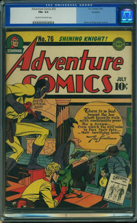 Adventure Comics #76 - ROCKFORD PEDIGREE (DC, 1942) CGC FN+ 6.5 Cream to off-white pages