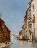 Fine Art - Painting, European:Antique  (Pre 1900), Paul Vernon (French, 19th Century). Venise, 1884. Oil onpanel. 13-3/4 x 10-1/2 inches (34.9 x 26.7 cm). Signed and date...
