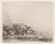 Rembrandt van Rijn (Dutch, 1606-1669) Landscape with cow, circa 1650 Etching on paper Plate: 4-1/8 x 5-1/8 inches (10