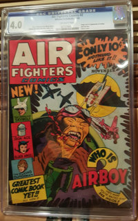 Air Fighters Comics #2 (Hillman Fall, 1942) CGC VG 4.0 Off-white pages