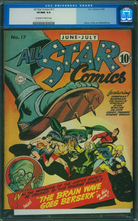 All Star Comics #17 (DC, 1943) CGC VF/NM 9.0 Off-white to white pages