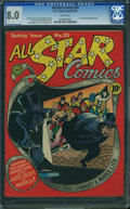 Golden Age (1938-1955):Superhero, All Star Comics #20 (DC, 1944) CGC VF 8.0 White pages.