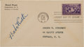 Baseball Collectibles:Others, 1939 Babe Ruth Signed First Day Cover Postmarked from The Day of The First Induction Ceremony. ...