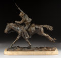 Sculpture, Harry Jackson (American, 1924-2011). The Marshall II, 1979. Bronze with brown patina. 16-1/2 inches (41.9 cm) high on a ...
