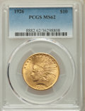 Indian Eagles: , 1926 $10 MS62 PCGS. PCGS Population: (14007/18587). NGC Census: (15165/20964). MS62. Mintage 1,014,000. . From The San ...