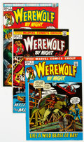 Bronze Age (1970-1979):Horror, Werewolf by Night Group of 9 (Marvel, 1972-74) Condition: AverageVF.... (Total: 9 )