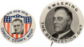 """Political:Pinback Buttons (1896-present), Franklin D. Roosevelt: Two """"Better"""" Picture Pins. ... (Total: 2 Items)"""