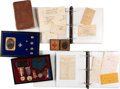 Autographs:Military Figures, Altus Jewel of the 77th New York Infantry Archive. ...