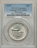 Commemorative Silver, 1936 50C Wisconsin -- Cleaning -- PCGS Genuine. Unc Details. NGC Census: (0/3815). PCGS Population: (0/6405). CDN: $150 Whs...