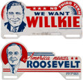 Political:3D & Other Display (1896-present), Franklin D. Roosevelt and Wendell Willkie: Portrait LicensePlates.... (Total: 2 Items)