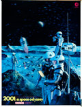 "Movie Posters:Science Fiction, 2001: A Space Odyssey (MGM, 1968). Tabletop 3-D Cinerama Standee (10.5"" X 13.5"") Moonbase Style.. ..."