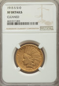 Indian Eagles, 1915-S $10 -- Cleaned -- NGC Details. XF. NGC Census: (3/448). PCGS Population: (5/414). CDN: $1,150 Whsle. Bid for pro...
