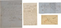 Autographs:Military Figures, [Civil War]. Three Documents Relating to POWs....