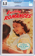 Golden Age (1938-1955):Romance, Exciting Romances #4 (Fawcett Publications, 1951) CGC FN- 5.5 Off-white to white pages....