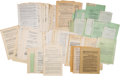Autographs:Authors, Group of Literary Agreements and Letters....