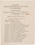 Political:Small Paper (pre-1896), Jefferson Davis: Oversize Virginia Ballot....