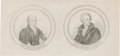 Political:Small Paper (pre-1896), John Quincy Adams and Andrew Jackson: Proofs for Snuff Boxes orPewter Rims....