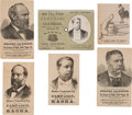 Political:Small Paper (pre-1896), James A. Garfield and Winfield Scott Hancock: Six Assorted TradeCards....