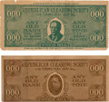 Political:Small Paper (1896-present), William Jennings Bryan: Anti-Taft Campaign Currency....