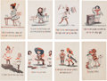 Political:Small Paper (1896-present), Woman's Suffrage: Set of Eight Cartoon Postcards....