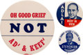 Political:Pinback Buttons (1896-present), Adlai Stevenson: Picture and Slogan Buttons. ...