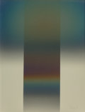 Works on Paper, Larry Bell (b. 1939). DIFGY 26, 1980. Aluminum and silicon monoxide on paper. 35-3/4 x 27-1/2 inches (90.8 x 69.9 cm). S...