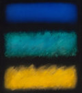 Paintings, Eric Orr (1939-1998). 3 Ways, 1991. Oil on canvas. 25-1/2 x 22-1/4 inches (64.8 x 56.5 cm). Signed, titled, and dated on...