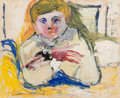 Post-War & Contemporary, Larry Rivers (1923-2002). Seated Child, 1949. Gouache andpencil on paper. 13-7/8 x 16-7/8 inches (35.2 x 42.9 cm). Sign...