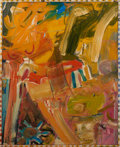 Post-War & Contemporary:Abstract Expressionism, Billy Al Bengston (b. 1934). The Dance (Moontang), 1957. Oilon canvas. 27 x 22 inches (68.6 x 55.9 cm). Titled lower ri...
