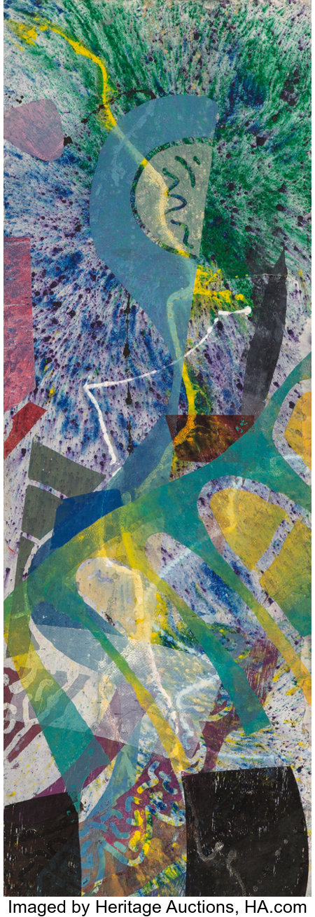 Sam Gilliam (b. 1933)Bad River Series I, 1988Acrylic on paper on canvas70-1/8 x 25-1/8 inches (178.1 x 63.8 cm)S...