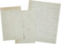 Autographs:Military Figures, [Civil War]. Union General Luther Stephenson Letters (2) Signed ... (Total: 2 )