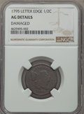 1795 1/2 C Lettered Edge -- Damaged -- NGC Details. AG. NGC Census: (0/0). PCGS Population: (1/156). CDN: $135 Whsle. Bi...