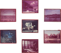 American School Seven Architectural Slides, circa 1950s Photographic slides between glass 4 x 5 i