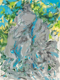 Elaine de Kooning (1919-1989) Bacchus VIII, 1980 Acrylic on canvas 40-1/8 x 30 inches (101.9 x 76