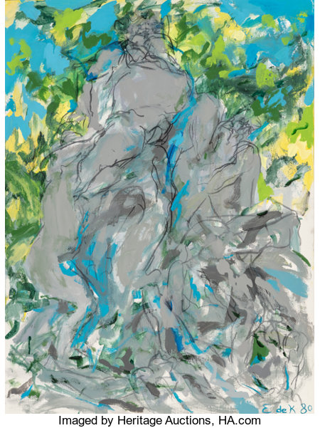 Elaine de Kooning (1919-1989)Bacchus VIII, 1980Acrylic on canvas40-1/8 x 30 inches (101.9 x 76.2 cm)Signed and d...