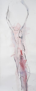 Post-War & Contemporary, Stephen De Staebler (1933-2011). Untitled (Standing pink figurestudy), 1993. Charcoal and color wash on paper. 42 x 17 ...