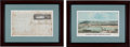Autographs:Military Figures, Jared G. Richards Eyewitness Account of the Monitor at the Battle of Hampton Roads.... (Total: 2 Items)