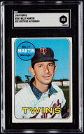 Autographs:Sports Cards, Signed 1969 Topps Billy Martin #547 SGC Authentic....