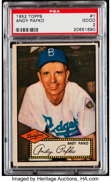 1952 Topps Andy Pafko Red Back 1 Psa Good 2 Baseball Cards