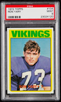 Football Cards:Singles (1970-Now), 1972 Topps Ron Yary #104 PSA Mint 9....